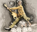 Pete Townshend And Keith Moon 36/375 Limited Edition Print - Ronnie Wood (Rolling Stones)