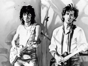 Philadephia 1981 Limited Edition Print - Ronnie Wood (Rolling Stones)