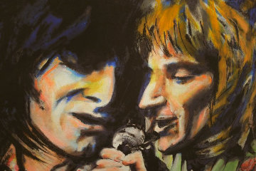Ronnie And Rod 2005 Limited Edition Print by Ronnie Wood (Rolling Stones)