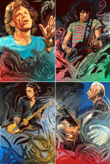 Blue Smoke Suite of 4 2012 Limited Edition Print by Ronnie Wood (Rolling Stones)