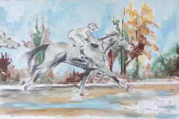 Race Horse Study2000 18x24 Original Painting - Ronnie Wood (Rolling Stones)