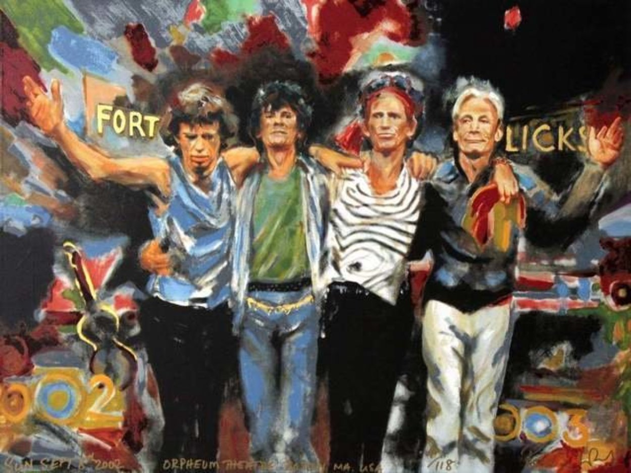 Forty Licks 2002 Limited Edition Print by Ronnie Wood (Rolling Stones)
