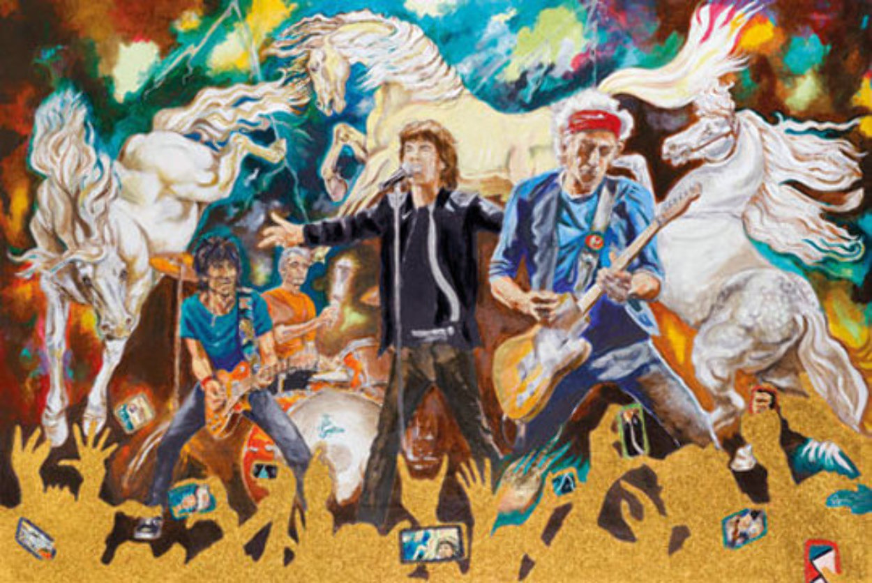 Electric Horses Limited Edition Print by Ronnie Wood (Rolling Stones)