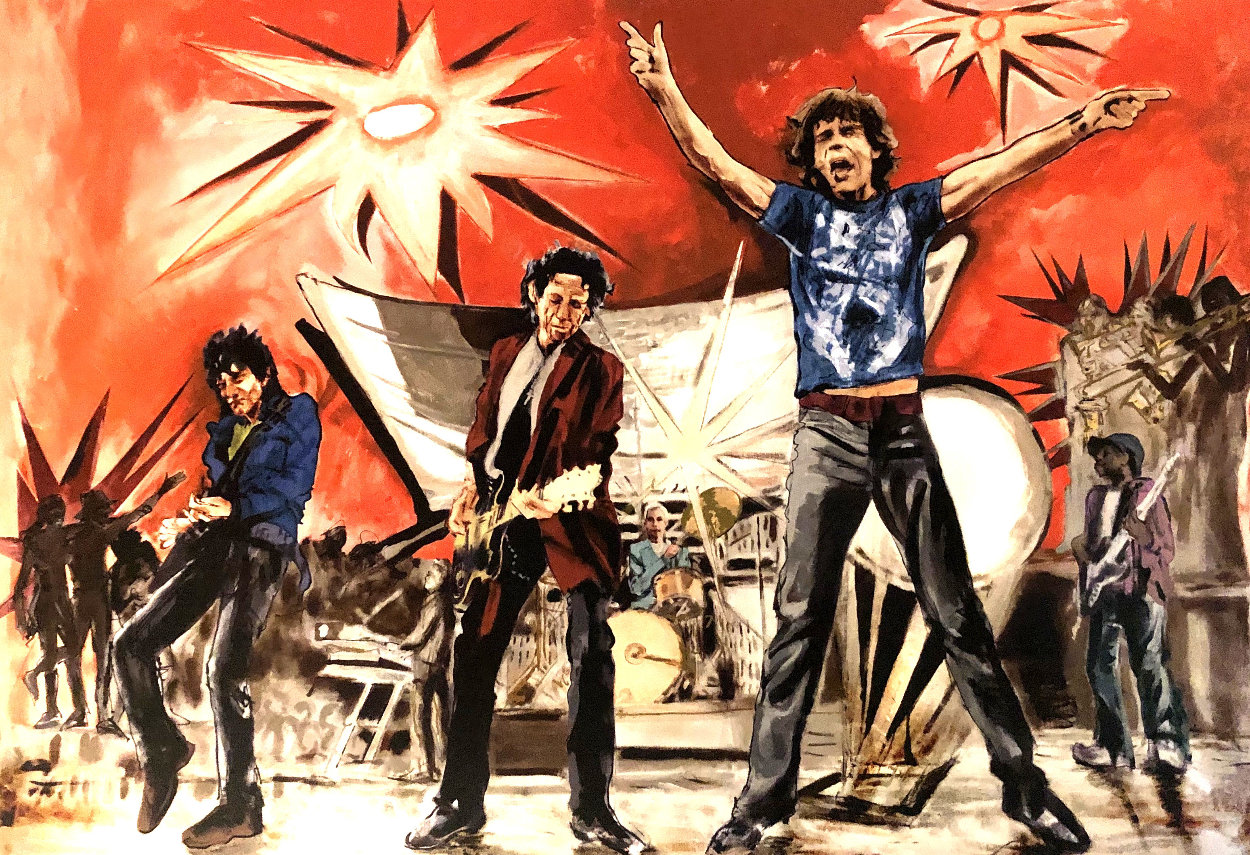 Bigger Bang Red Limited Edition Print by Ronnie Wood (Rolling Stones)