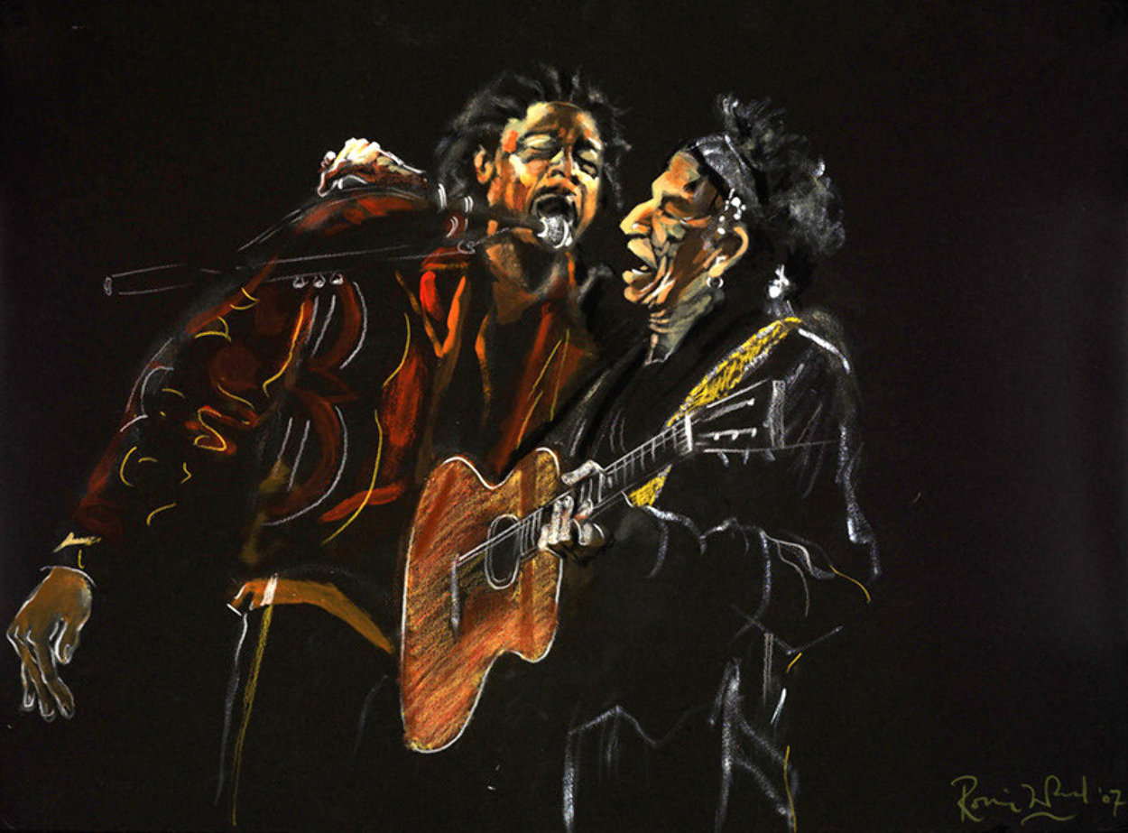 Portrait in Black - Pretty Beat Up 2005 Limited Edition Print by Ronnie Wood (Rolling Stones)