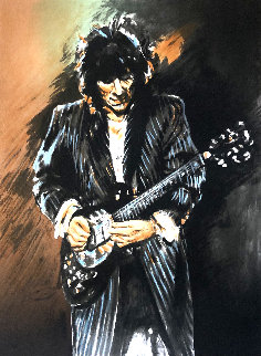Slide on This 2001 Limited Edition Print - Ronnie Wood (Rolling Stones)
