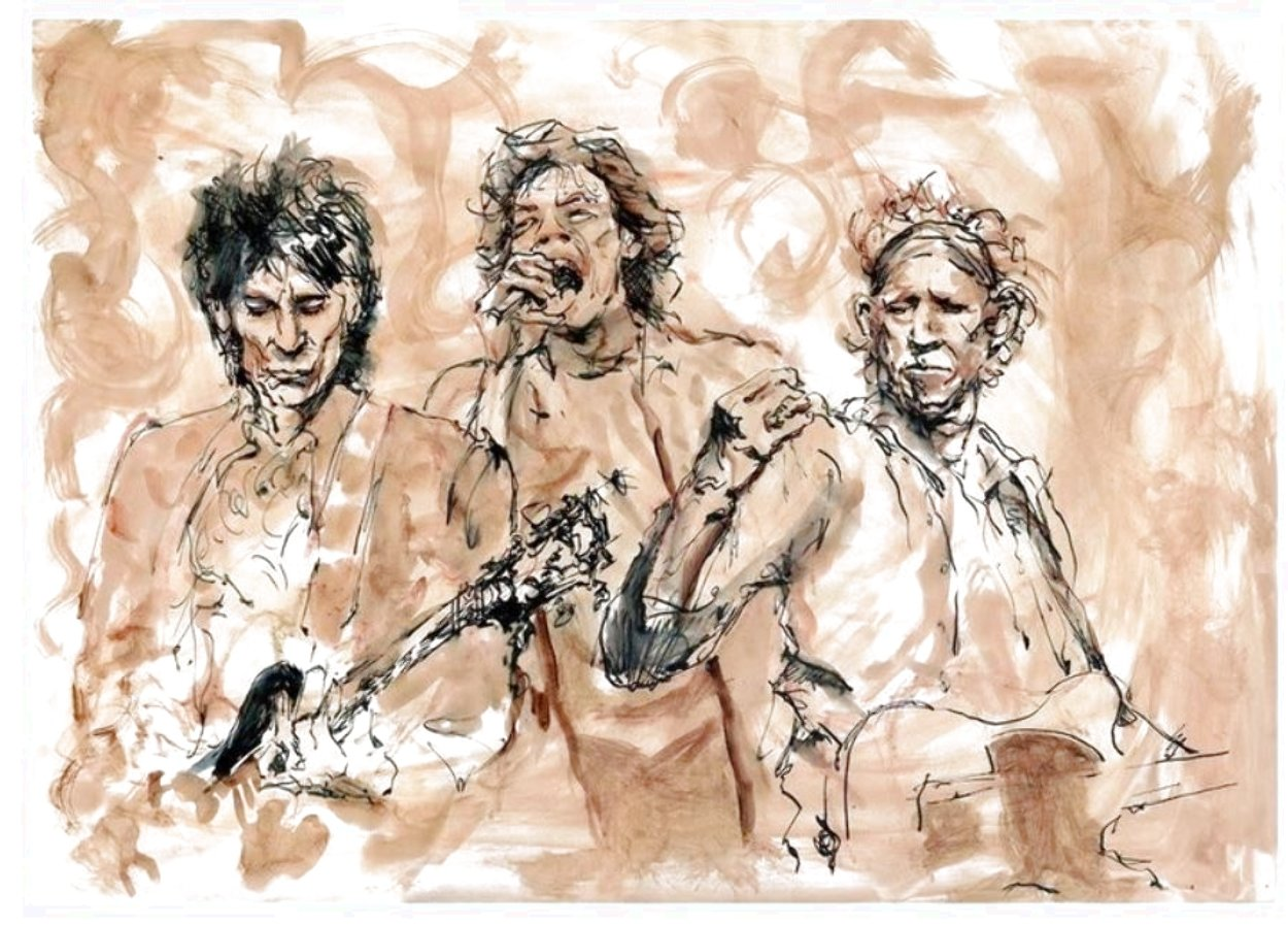 Ronnie, Mick, Keith Limited Edition Print by Ronnie Wood (Rolling Stones)