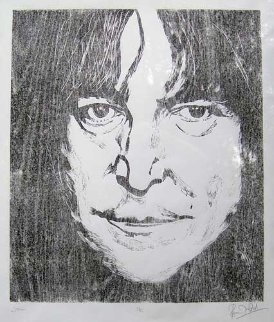 John Lennon (Beatles)  1987 Limited Edition Print - Ronnie Wood (Rolling Stones)