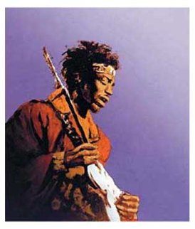 Jimi Hendrix 1991 Limited Edition Print by Ronnie Wood (Rolling Stones)