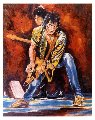 Keith and Ronnie on Stage 1993 Limited Edition Print - Ronnie Wood (Rolling Stones)