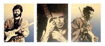 Eric, Keith, Jimi 1991 Limited Edition Print by Ronnie Wood (Rolling Stones)