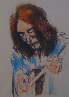 John Lennon Playing the Guitar Limited Edition Print - Ronnie Wood (Rolling Stones)