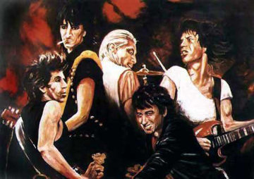 Stones in Sepia 1991 Limited Edition Print by Ronnie Wood (Rolling Stones)