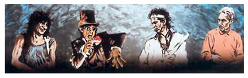 Voodoo 4 I Blue AP 1997 Limited Edition Print by Ronnie Wood (Rolling Stones)
