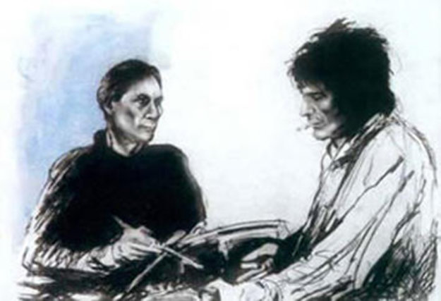 Charlie and Ronnie in Sandymount 1993 Limited Edition Print by Ronnie Wood (Rolling Stones)