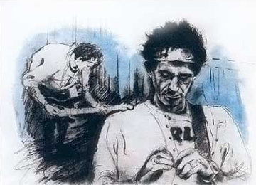 Keith In Killdare 1994 Limited Edition Print - Ronnie Wood (Rolling Stones)