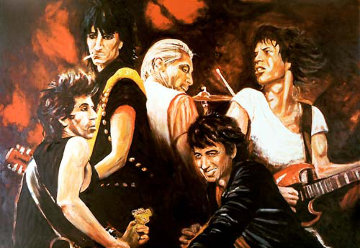 Stones in Sepia II Limited Edition Print by Ronnie Wood (Rolling Stones)