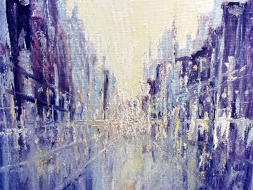 Cityscape Impression 2020 16x20 Original Painting - Linda Woolven