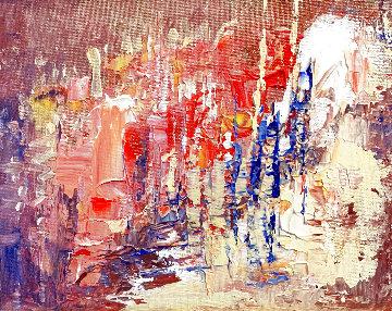 Abstract No. 32 2020 8x10 Original Painting - Linda Woolven