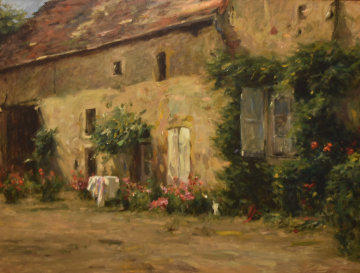 House in Burgundy 1999 Limited Edition Print - Leonard Wren