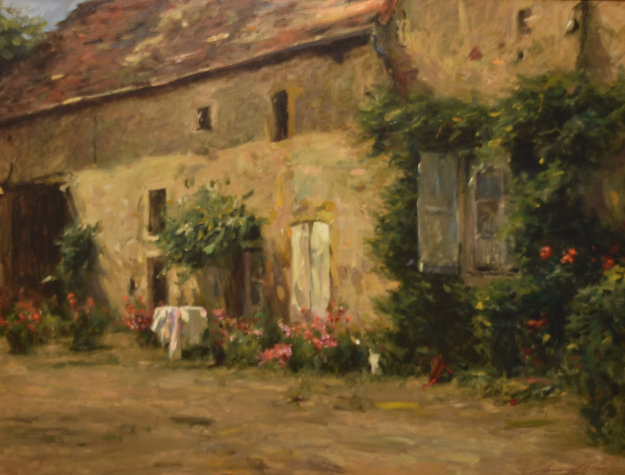 House in Burgundy 1999 Limited Edition Print by Leonard Wren