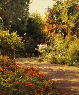 A Garden in Normandy 1999 Limited Edition Print - Leonard Wren