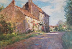 On the Road to Buxy 32x44 Original Painting - Leonard Wren