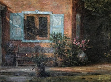 Tortola 2013 45x58 Original Painting - Leonard Wren