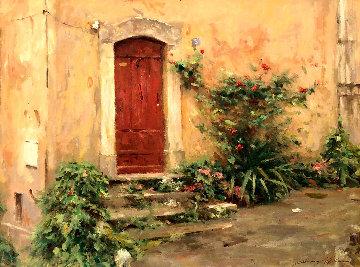 Doorway in Valbonne 1999 30x40 Super Huge  Limited Edition Print - Leonard Wren