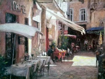 Cafe De Provence 2000 Limited Edition Print - Leonard Wren