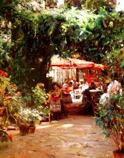 Cafe St. Remy 2001 Embellished Limited Edition Print - Leonard Wren
