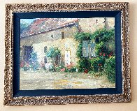 House in Burgundy 1999 Embellished Limited Edition Print by Leonard Wren - 1
