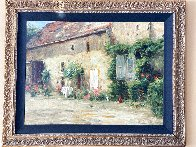 House in Burgundy 1999 Embellished Limited Edition Print by Leonard Wren - 2