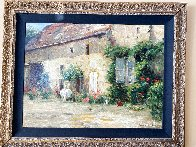 House in Burgundy 1999 Embellished Limited Edition Print by Leonard Wren - 7