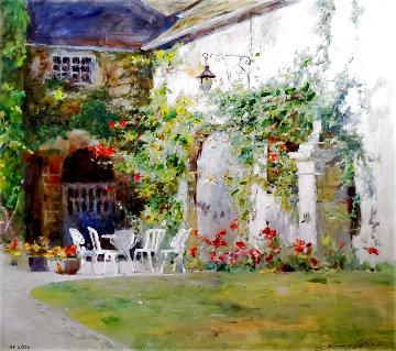 French Courtyard AE Limited Edition Print - Leonard Wren