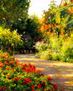 Garden in Normandy 1999 Limited Edition Print - Leonard Wren