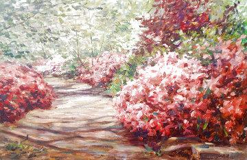 Untitled Painting 29x41 Huge Original Painting - Leonard Wren