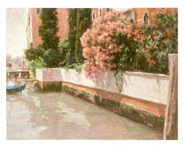Venice Canals AP 2004 Embellished Limited Edition Print by Leonard Wren