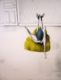 l'Oeuf Bleu 1970 Limited Edition Print by Paul Wunderlich
