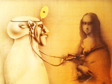Mona Lisa 1974 No. 1 Limited Edition Print - Paul Wunderlich