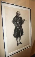 Colonial Figure With Pipe Drawing HS  15x20  Drawing by Andrew Wyeth - 1