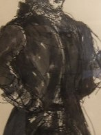 Colonial Figure With Pipe Drawing HS  15x20  Drawing by Andrew Wyeth - 4
