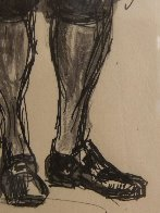 Colonial Figure With Pipe Drawing HS  15x20  Drawing by Andrew Wyeth - 5