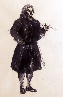 Colonial Figure With Pipe HS Drawing  15x20 HS  Drawing - Andrew Wyeth