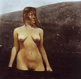Sea Bed HS 1978 New Museum Frame Limited Edition Print - Andrew Wyeth