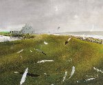 Airborne 2002 Limited Edition Print - Andrew Wyeth