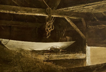 Hay Ledge 1957 Hand Signed Limited Edition Print - Andrew Wyeth