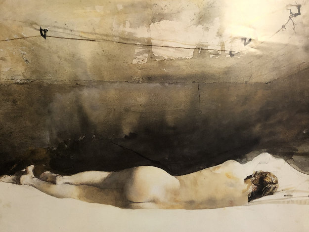 Helga Pictures,  a Study For Baracoon  1976 HS by Helga and Andrew Limited Edition Print by Andrew Wyeth