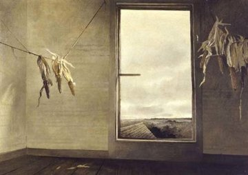 Seed Corn 1948 20x24 Hand Signed Limited Edition Print by Andrew Wyeth
