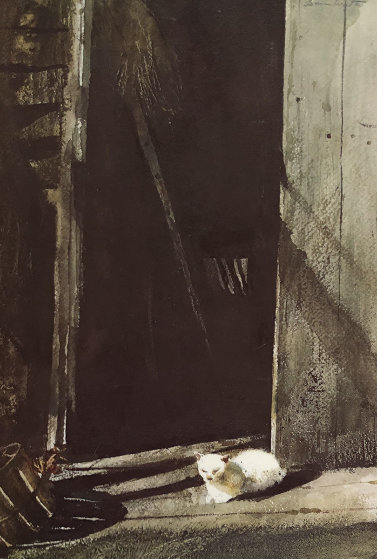 Cat Nap 1963 HS Limited Edition Print by Andrew Wyeth